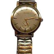Mans gold Benrus wrist watch