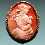 Lovely Victorian girl with rose cameo