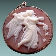 Lovely angel of the night cameo pendant