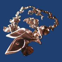 Huge sterling silver flower necklace
