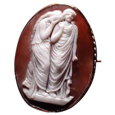 Rare cameo of 2 women mourning