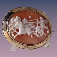 Fabulous hard to find Goddess of the Dawn chariot cameo