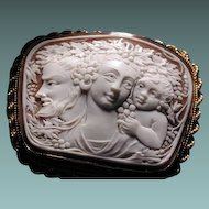 Cameo of Bacchus,Dionysus and child