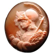 Lovel;y cameo of Minerva and Athena