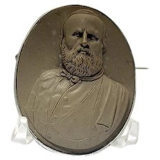 Wonderful lava cameo of Garibaldi