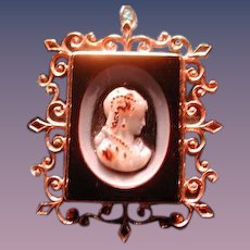 Fancy 4 color banded agate cameo