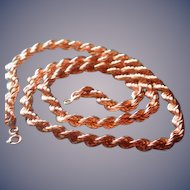 Gold rope chain-20 inch    weighs 17.6 grams