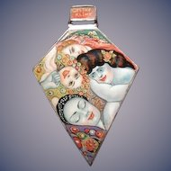 Russian hand painted enamel of Klimt