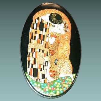 Hand painted Russian Klimt - The Kiss