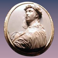 Museum quality Grand Tour lava cameo of Raffaello