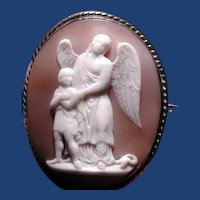 Guardian angel cameo with child