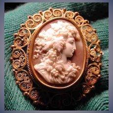 Fabulous filigree Victorian Baccante head