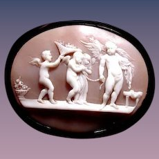 Marriage of cupid and Psyche in jet