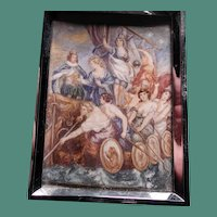 Hand painted plaque from a Rubens painting in the Medici cycle