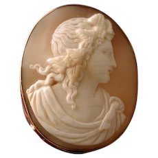 Dionysus cameo set in gold