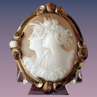 Victorian cameo of Ceres and Flora