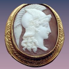 Lovely cameo of Athena with curls