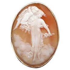 Lovely cameo of Persephone and cherub