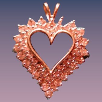 Just in time for Valentines Day -A large diamond heart necklace