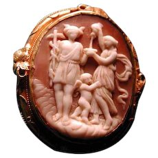 Wonderful cameo of Mercury with staff and cherub