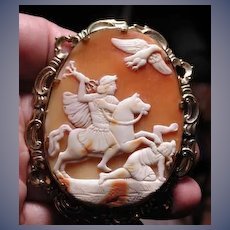 HUge cameo of Posidon on horse