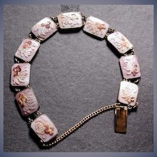 Lovely cameo bracelet with flower cameos