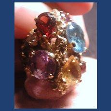 Lovely large multi stoned ring