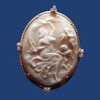 Cameo of Venus with cherubs