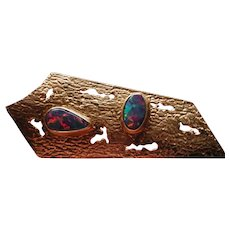 Fabulous modern Australian opal pin