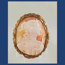 Lovely cameo of Diana the huntress with bow