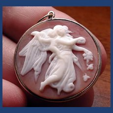 Lovely cameo  pendant of Eos the goddess of the dawn