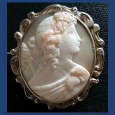 Lovely cameo of Bacchus with rams head