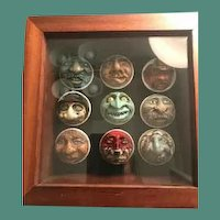 Collection of hand carved golf balls