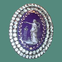 Fabulous hand painted and paste Victorian pin