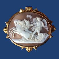 Museum quality cameo of Peace halting the horses of mars