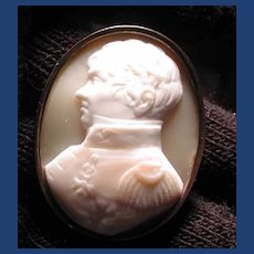 Victorian cameo of military man George IV