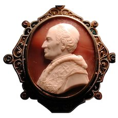 Rare and fine cameo of Pope Leo XIII