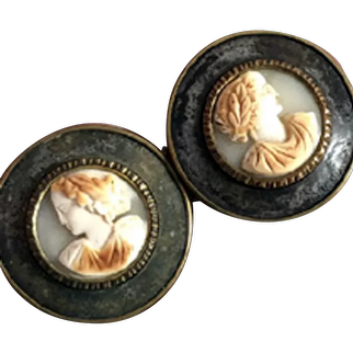 Wonderful cameo buckle from Paris France
