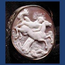 Rare cameo of Mazeppa on horse
