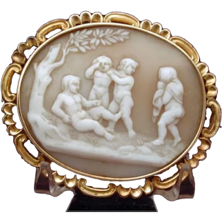 Rare cameo of the marriage of Psyche and Eros