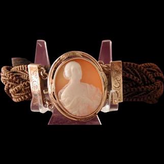 Fine Victorian  cameo mourning bracelet