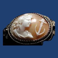 Lovely silver filigree cameo of hope