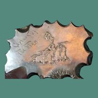 Rare hand carved cameo of capture of the flag- May be Civil War