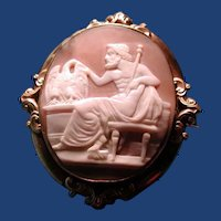 Wonderful cameo of Zeus with his eagle
