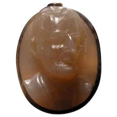 Agate cameo of Abe Lincoln