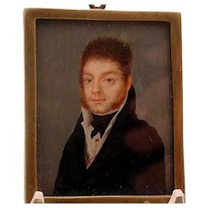 American hand painted miniature signed Yepes 1818