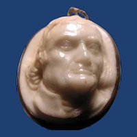 Wonderful stone cameo of Thomas Jefferson
