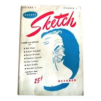 Vintage Pocket Sketch Cartoon Humor Satire Comic Mag Magazine Book First Issue