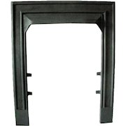 Art Deco Elegant Simple Design Cast Iron Ribbed Fireplace Door Frame Surround