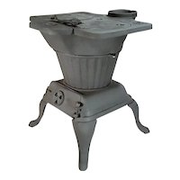 Antique Rex 84-A Cast Iron Wood Burning Cook Stove / Laundry Heater